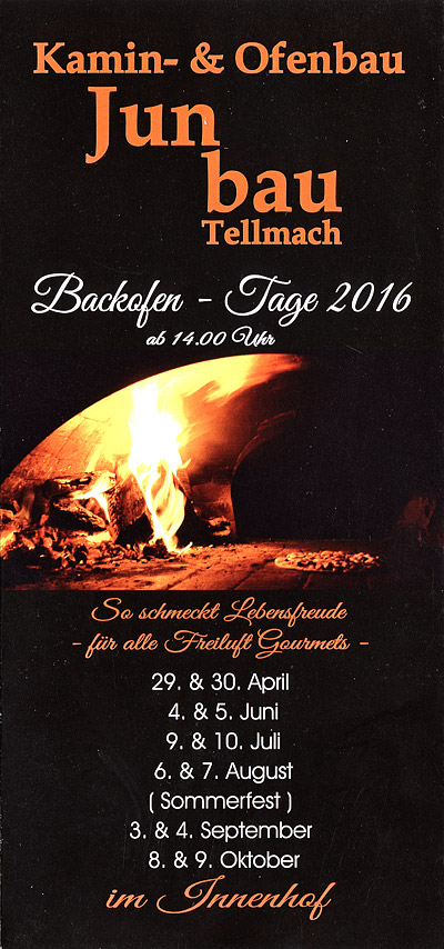 Backofen-Tage 2016